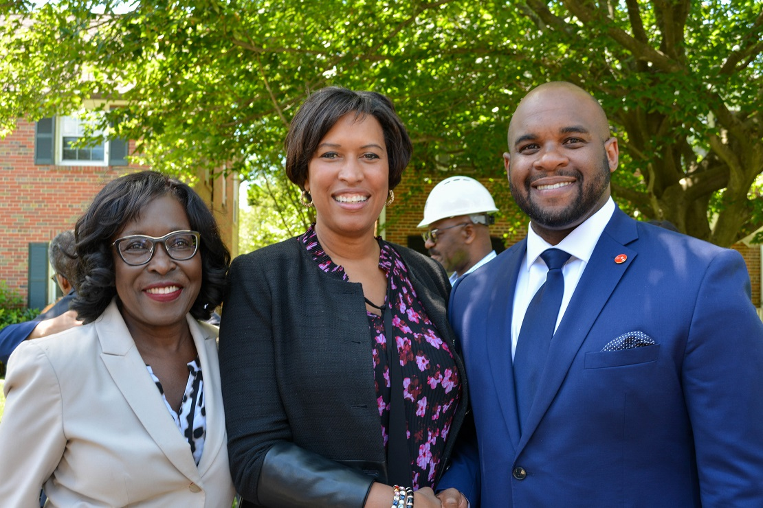 People's Counsel, Sandra Mattavous Frye, Mayor Bowser and DCPSC Chairman Willie L. Phillips