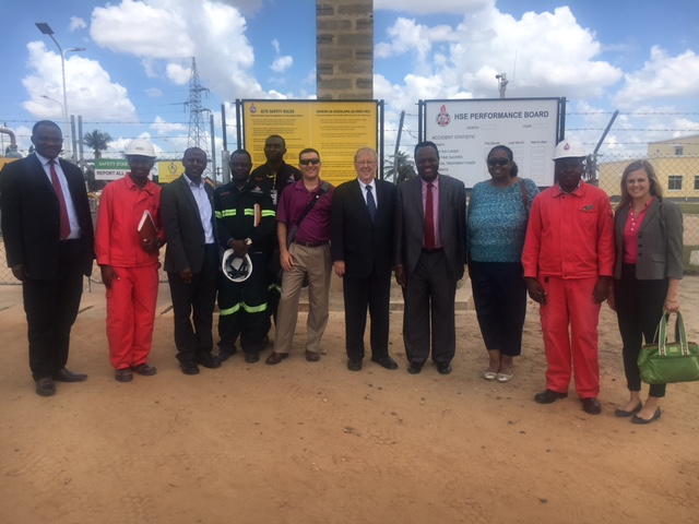 NARUC, USAID and Power Africa  Delegation with Tanzanian Regulators at Kinyerezi Gas Power Plant during recent visit. PSC Employee Udeozo Ogbue, Chief, Office of Compliance and Enforcement is the fourth person from the right.